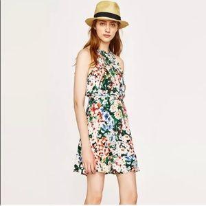 Zara basics summer floral dress.